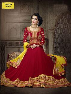 floor length lehenga choli style anarkali for wedding - Google Search