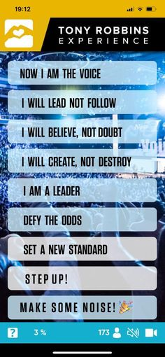 Tony Robbins, The Voice, Believe, How To Make