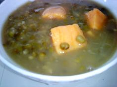Cooking Pleasure: Green Bean With Sweet Potato Soup