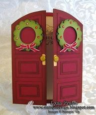 """Stampin Up/tutorials.The wreaths are using the 1"""" Circle punch for the inside and then punch the Scallop circle out around it. Why didn't we think of that?"""