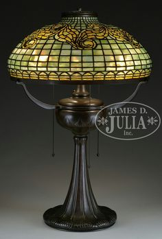 TIFFANY STUDIOS TYLER SCROLL TABLE LAMP.
