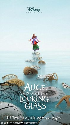 Disney released two teaser posters for the Alice in Wonderland sequel, Alice Through the Looking Glass. The new posters feature Johnny Depp as the Mad Hatter and Mia Wasikowska as Alice. Mia Wasikowska, Johnny Depp, Disney Films, Disney S, Disney Wiki, Disney Princess, New Movies, Good Movies, 2016 Movies