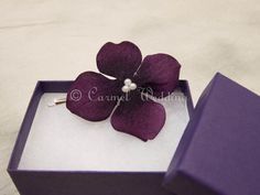 Purple flower bobby pin bridesmaids gift with by CarmelWedding, $5.99