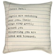 Sugarboo Designs Pillow Sweet Baby Letter