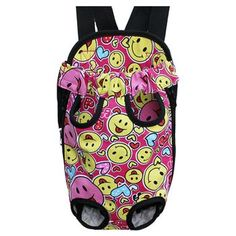 Outdoor Dog Carrier Pet Carriers Backpack Pet Bag Cat Travel Bag, Smile