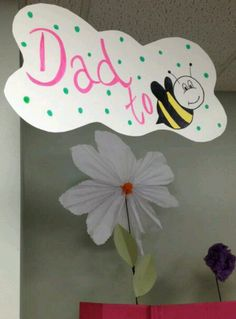 """Garden baby shower. Would be cute to put """"Courtney is a Mommy to [bee]"""" on the invitation"""