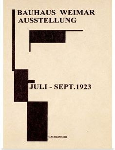 Weimar Bauhaus German Art Exhibition Ausstellung Poster c . Vintage Advertising Posters, Vintage Advertisements, Bauhaus Design, Design Typography, Japanese Graphic Design, Exhibition, Minimalist Poster, Minimalist Design, Cool Posters
