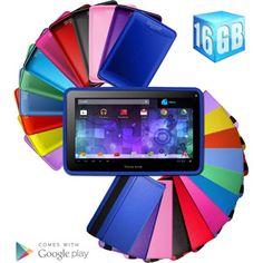 "Visual Land Prestige Pro 7"" Tablet 16GB Memory, Dual Cameras, 1.6GHz Dual Core, HD Screen & Google Mobile Services with Bonus Case"