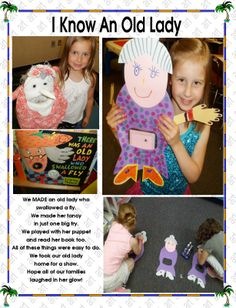 I Know an Old lady Swallowed A Fly, Fly Guy, Retelling, Old Women, Phonics, Puppets, Literacy, Extensions, Kindergarten