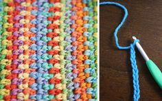 Watch How To Crochet The Moss Stitch