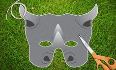 This listing is for a Rhino Printable Mask.  You will receive high resolution PDF files that you can print your own paper masks from at home.