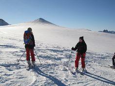 Skifahren in den Alpen in Österreich / Tirol / Pitztal