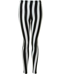 Black And White Striped Leggings ($7.79) ❤ liked on Polyvore