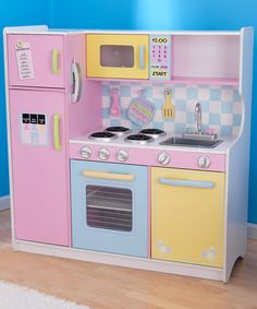 How cute is this? Your budding chef will love cooking up some fun in this sweet kitchen.