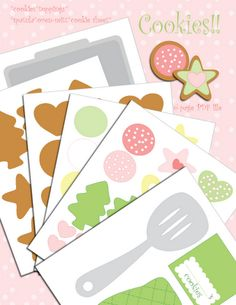 perfect Christmas idea... paper cookie template, he likes to cook and he loves sweet things :)