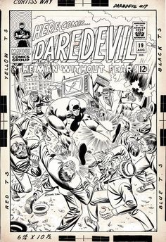 Daredevil #19 Cover , in Comicart B's GRAIL PIECES Comic Art Gallery Room - 1021685