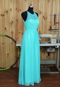 Turquesa Vestido de Dama de honor vestido de por Dressesall4you