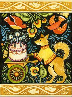 Julie Paschkis  birthday dog