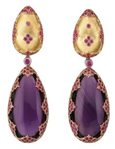 Amethyst and Yellow Gold Buccellati Earrings