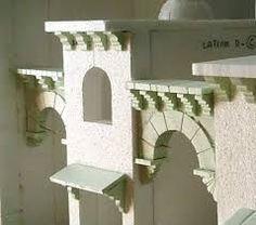 fondos para portal de belen - Buscar con Google Architecture Concept Drawings, Architecture Details, Paper Palm Tree, Styrofoam Art, Foam Carving, Wargaming Terrain, Italian Villa, Christmas Villages, Miniature Houses
