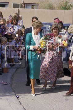 15 November 1986: Princess Diana in Doha, Qatar.