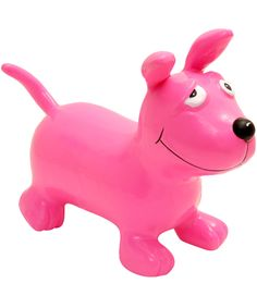 Happy Hopperz Pink Curious Dog Inflatable Hopper | Toys by Happy Hopperz | Liberty.co.uk