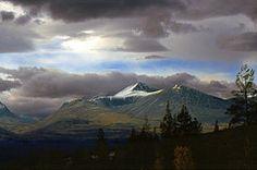 Rondane (gabriol) Tags: sky mountain tree oslo norway stone clouds photoshop canon scanned 1998 rondane eos650 folldal svow allrightsreserved storronden gabriol nationalrondanepark
