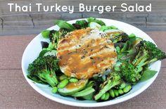 Thai Turkey Burger Salad