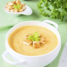 Velouté express de légumes Cheeseburger Chowder, Love Food, Cantaloupe, Pudding, Fruit, Desserts, Chefs, Journey, French