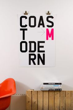 Coast Modern - Exclusive screen print by Build – (by)Build Shop — Modern graphic design prints and products by Build Graphic Design Print, Modern Graphic Design, Modern Prints, Modern Posters, Graphic Posters, Screen Print Poster, Typography Poster Design, Corporate, Design Museum