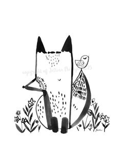 This is a high quality print of an ink drawing by Jilly P. Printed on A4 Archival Matte paper. The watermark will not appear on the finished print.