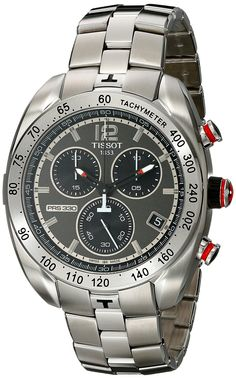 Tissot Men's 'PRS 330' Anthracite Dial Stainless Steel Chronograph Watch T076.417.11.067.00. Grey Chronograph Dial. Stainless Steel Case and Bracelet. Swiss-quartz Movement. Case Diameter: 44mm. Water Resistant To 330 Feet.