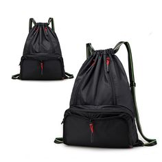 3661daadc2 Drawstring Backpack Cinch Sack Foldable Sackpack Lightweight Gym Sack for  Summer Swimming Travel Beach Dancing Gym