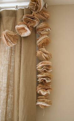 Coffee Filter and Music Pages Garland (pretty in white too)