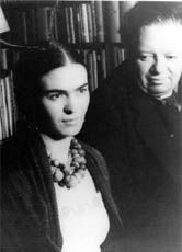 Die Malerin Frida Kahlo mit ihrem Ehemann Diego Rivera im Jahr 1932.