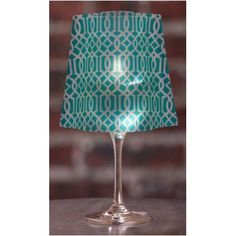 What a pretty and easy party or decorating idea. 4 Wine Glass Shades and 4 water-activated, floating LED candles. Batteries included. Modgy Lumizu Wine Glass Shades Classiq Teal