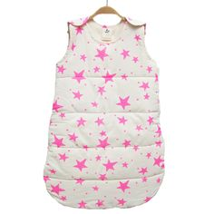Neon Pink Stars Baby Sleep Sack - Baby is sure to sleep safely and soundly in this absolutely adorable sleep sack. Newborn essential + makes a great #babygift! #PNshop