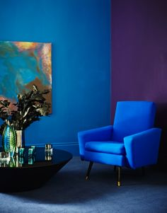 cobalt from the blue. Could I get anyone else to live with this??? Love the painting!