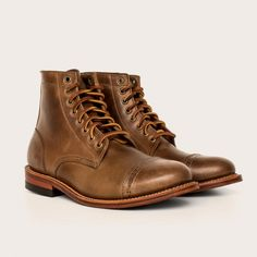 Oak Street Bootmakers | Natural Cap-toe Trench Boot - Footwear