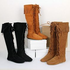 111.48$  Watch more here - http://ai1cm.worlditems.win/all/product.php?id=32799244155 - Designer luxury Women Knee High Boots Suede Leather Fringe Long Motorcycle Booties brand New Casual Shoes Woman England Shoes