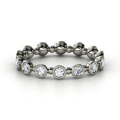 Palladium Ring with Diamond | Seed & Pod Eternity Band | Gemvara