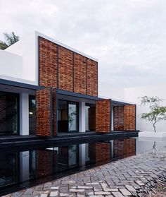 This white house has been designed to reference the traditional local architecture of Mexico's Lake Chapala.