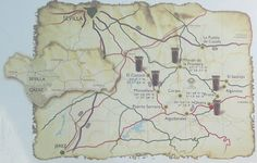 Mapa de la ruta de los castillos fortalezas que son testigos de la reconquista