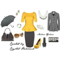 """""""Mellow Yellow"""" by crystal-g-halcomb on Polyvore"""