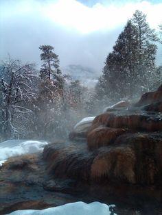 Natural hot spring in #Durango, #Colorado. It felt good in the winter.