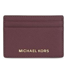 MICHAEL MICHAEL KORS Micheal Kors Jet Set Travel Leather Card Holder.   michaelmichaelkors  bags  leather  lining  accessories  cardholder   1d02151f2