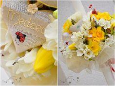 """Ladybug christening candle with personalized hearts - Lumanare botez """" buburuza """"cu inimioare personalizata by SaraCreations, via Flickr"""