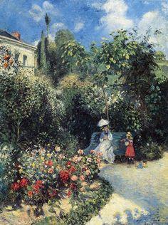 Camille Pissarro - Dans le jardin des Mathurins, Pontoise - 503 - Camille Pissarro - Wikimedia Commons