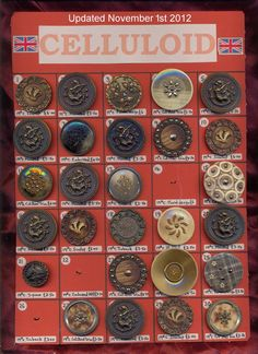 Button Cards, Button Button, Vintage Sewing Notions, Types Of Buttons, Baubles And Beads, Sewing Tools, Sewing A Button, Vintage Buttons, Makers Mark