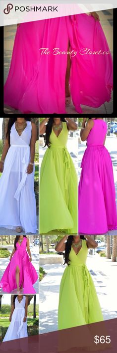 Rose Design Casual Slit Dress Size: S, M, L, XL, XXL   Color: Rose, Green, White Category: Dresses Style: Casual Neckline: V Neck Sleeve's Length: Sleeveless Silhouette: High waist Material: Chiffon Dress Length: Maxi Package Contents: (1) Dress Custom Design Dresses Maxi